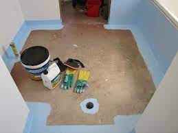 water proofing a bathroom